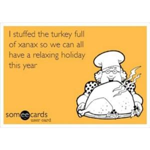 Thanksgiving Xanax Turkey